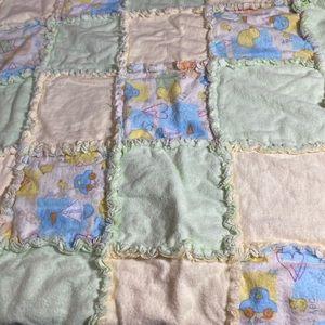 Brand new! Handmade cozy rag quilt